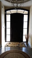 Fiberglass Arch Door with Sidelites and matching tansom interior look