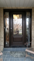 Fiberglass door with 2 sidelites and Martina Wrought Iron