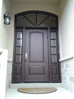 fiberglass door with panel SDL and transom