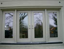 Double Door with Panel Wide Sidelites and Clear  Glass