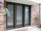 Full Glass Mastergrain Flush with Wide Frosted Sidelites & Zinc Caming